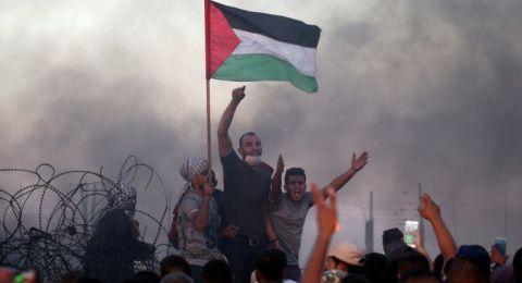 31 اصابة على حدود غزة