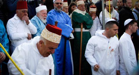 السامريون يؤدون حج الفسح على قمة