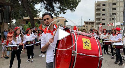 الناصرة: انطلاق مسيرة الأولّ من ايّار من شارع توفيق زيّاد