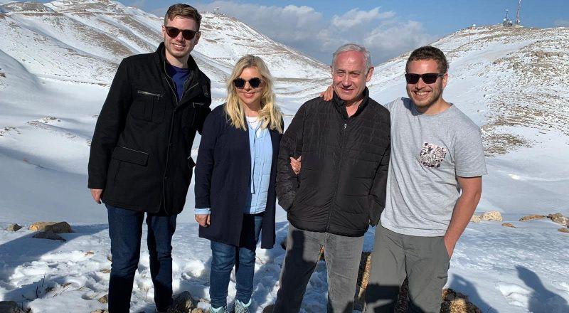نتنياهو خلال تواجد في الجولان المحتل مع عائلته: سنبني مستوطنة هنا ونطلق عليها اسم