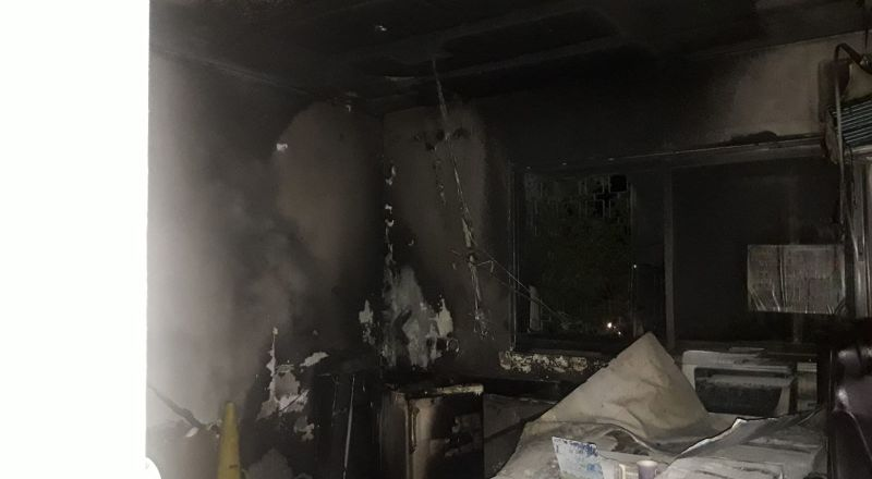 احراق المركز الجماهيري في ساجور