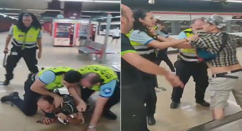 الشرطة الإسبانية تضرب ركاب محطات القطارات لعدم ارتدائهم الكمامات
