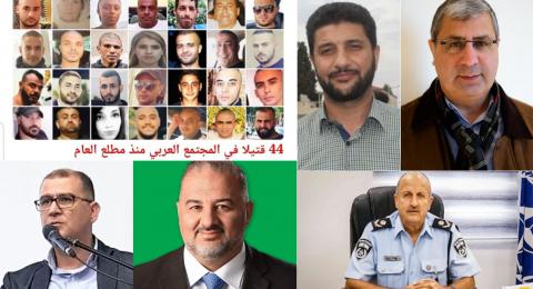 العنف يدق ناقوس الخطر مجددا .. 44 قتيل منذ بداية العام، القيادة تعقب، والشرطة تعترف بالمسؤولية