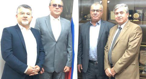 بركة وجبارين يلتقيان بالسفير الروسي للتحذير من مخاطر مشروع الضم