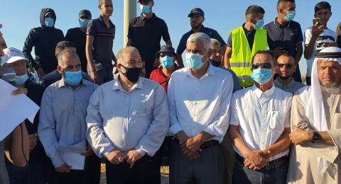 وقفة اجتجاجية في مدخل قرية الزرنوق في النقب احتجاجًا على هدم المنازل