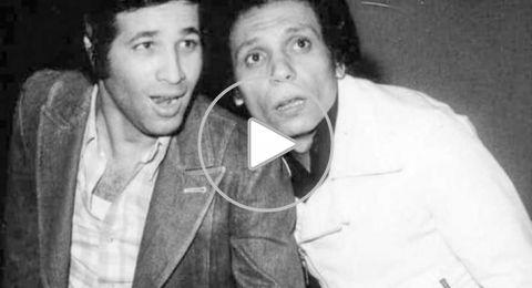 عادل إمام ويونس شلبي وسعيد صالح في مشهد من كواليس أحد الأفلام
