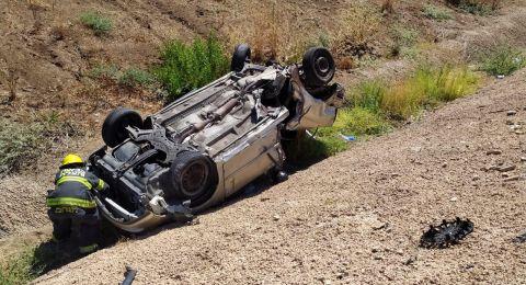 3 إصابات بينها حرجة بحادث طرق مروع في غان يفني