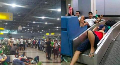 33 طائرة تنهي أزمة المشجعين الجزائريين في مطار القاهرة