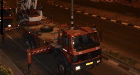 الناصرة: حريق في محل تجاري بشارع توفيق زياد