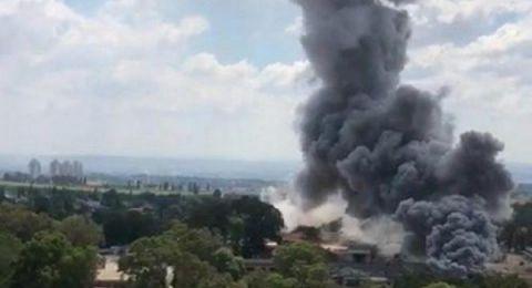 خسائره تقدر بملايين الشواكل.. اندلاع حريق بقاعدة عسكرية إسرائيلية بالخليل