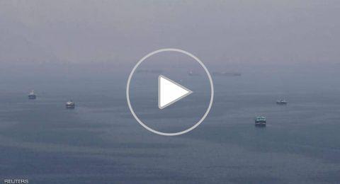 فيديو يوثق لحظة غرق سفينة الشحن الإيرانية وإنقاذ طاقمها