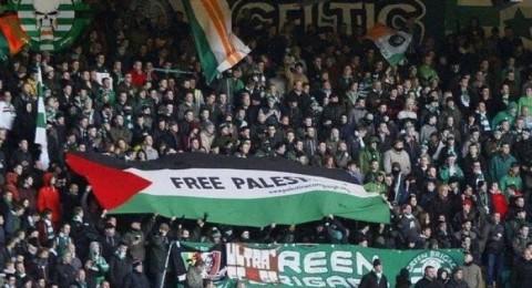 مشجعو سيلتيك يجمعون تبرعات للفلسطينيين بقدر العقوبة الأوروبية