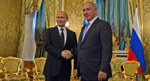 نتنياهو و بوتين يبحثان الاوضاع في منطقة الشرق الاوسط هاتفيا