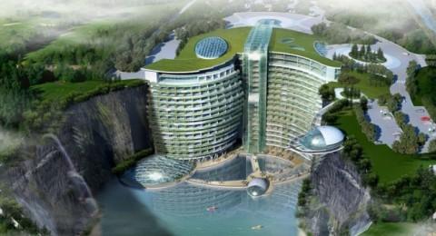 افتتاح أول فندق في العالم داخل حفرة عميقة في شنغهاي نهاية 2017