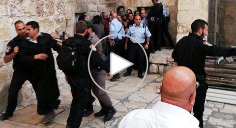 الاعتداء على وقفة احتجاجية لرهبان الاقباط واعتقال راهبًا