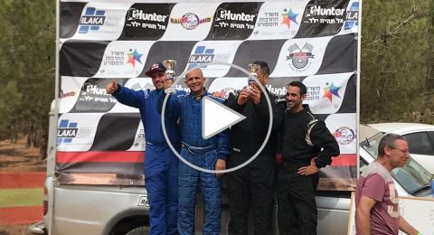 رهط: رامي غدير يحصد المرتبة الأولى في سباق الرالي