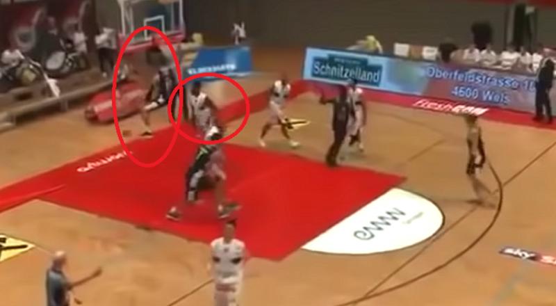 بالفيديو.. لاعب كرة سلة يتلقى لكمة قاضية انتقاما لـ