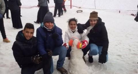 الرازي اكسال تنظم رحلة لطلاب صفوف السابع إلى جبل الشيخ