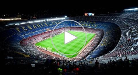 عشاق برشلونة يحظون بمشاهدة ميسي في افضل مهارته الكروية