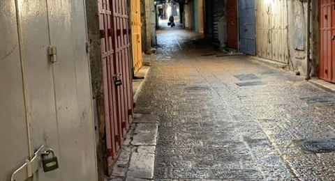 القدس مدينة اشباح بفعل تفشي فيروس الكورونا