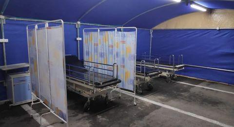 التجمع المقدسي يستمر بنصب خيم المستشفيات ويجري مناورة لمركز الاتصالات