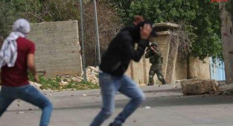 اصابة مواطن برصاص الاحتلال خلال قمعه لمسيرة كفر قدوم الاسبوعية