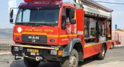 كفر كنا: اندلاع حريق في محل لبيع الاراجيل والدخان