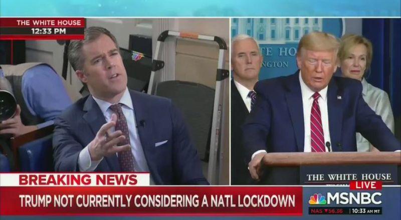 شاهد.. ترامب يشتم صحفياً وجه سؤالاً حول كورونا