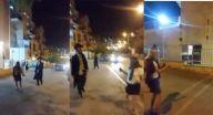 يهودي متدين يلاحق فتيات بـ العصا ويطالب بذهابهن للبيت!
