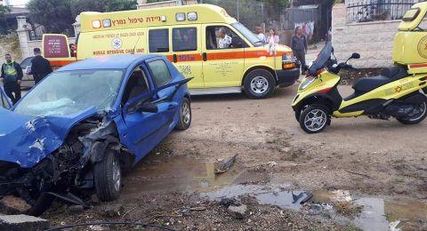 الجديدة- المكر: اصابة بالغة لشاب بعد ارتطام سيارته بجدار