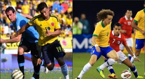 الليلة:الثأر يشتعل بين البرازيل وتشيلي وكولومبيا تتحدى أوروجواي