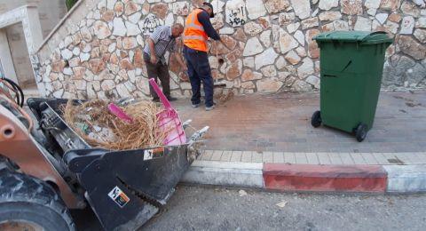 امّ الفحم: البلدية تتعاقد مع مقاول للنظافة العامة