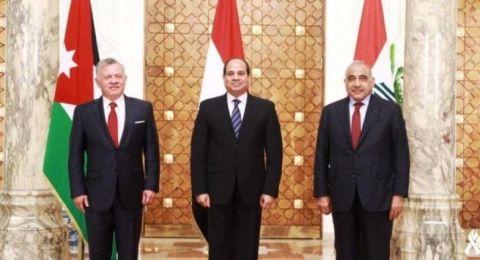 قمة أردنية مصرية عراقية تحذر من ضم الضفة