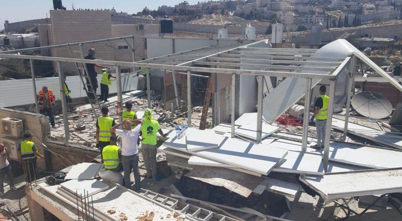 الاحتلال يهدم منزلا قيد الانشاء في القدس