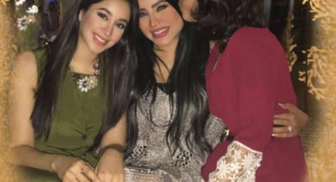 لجين عمران تحتفل بيوم ميلادها مع اختها أسيل بعفوية وطرافة