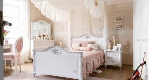 الأناقة والرومانسية في غرف نوم فتيات رائعة الجمال