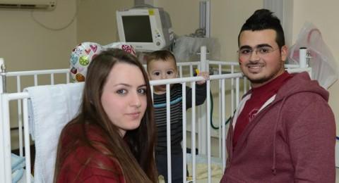 طلاب ثانوية البقيعة يزورون قسم الاطفال في مستشفى الجليل الغربي