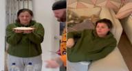 أمريكي يفاجئ زوجته بمقلب غير متوقع.. شاهد ردة فعلها