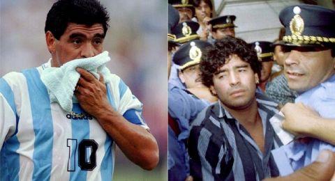 قصة دمعة مارادونا الشهيرة وطرده من مونديال 94 بعد توهجه!