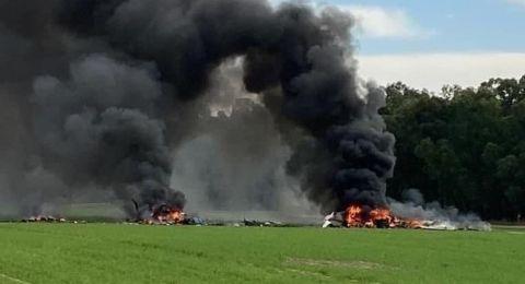 مصرع ضابط وجندي متدرب في حادث تحطم طائرة صغيرة في النقب