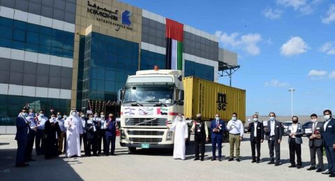 ميناء جبل علي الإماراتي يستقبل أول حاوية بضائع من إسرائيل