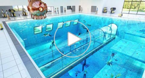 افتتاح أعمق مسبح في العالم في بولندا