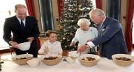 الأمير الصغير جورج وهو يصنع حلوى العيد لجدته الملكة