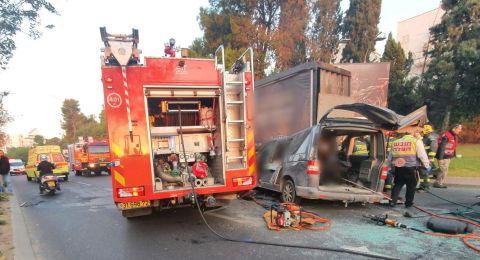 قتيلان و 5 مصابين بحادث طرق مروع في رمات غان