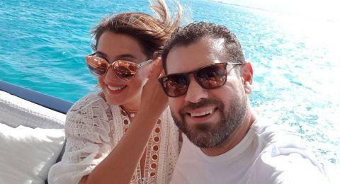 كندة علوش تحتفل بعيد ميلاد زوجها بصور رومنسية