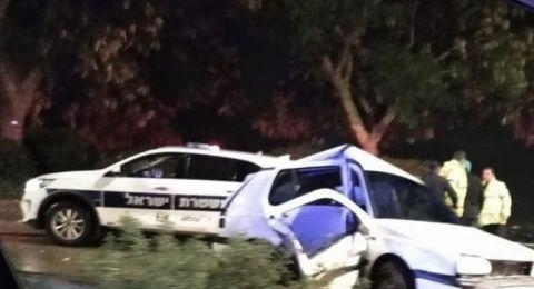 اصابة حرجة لشاب بحادث في نوف هجليل، وشجرة تسحق مركبة في نيشر