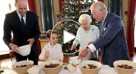 الأجيال الملكية الأربعة يتشاركون في صنع حلوى العيد