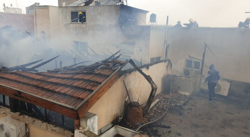 المشيرفة: اندلاع حريق في منزل وتخليص عالق