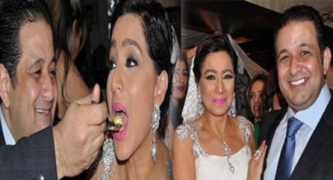 الاعلامية بسمة وهبة تحتفل بعيد زواجها
