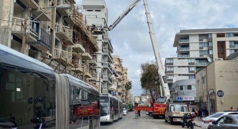إصابة 3 عمال اثر سقوطهم في ورشة بتل أبيب